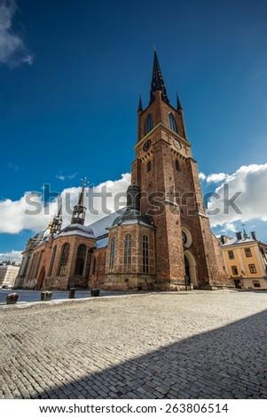 Riddarholm Church, Riddarholmen, Old town, Stockholm, Sweden. - stock photo