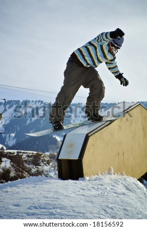 Rider sliding on a figure in park