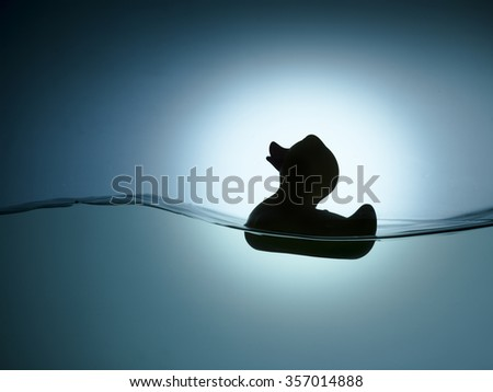 riding a wave  - stock photo