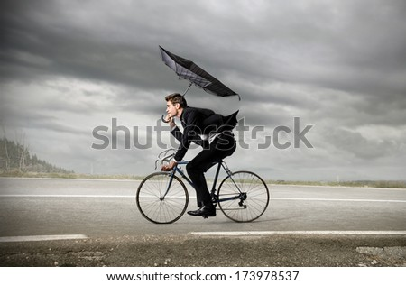 riding businessman