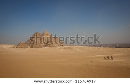 Riding to the pyramids