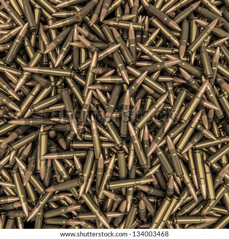 Rifle bullets background - stock photo