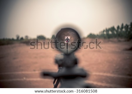 rifle target view  - stock photo
