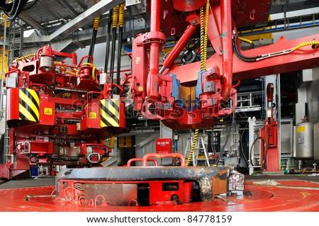 Rig floor - stock photo