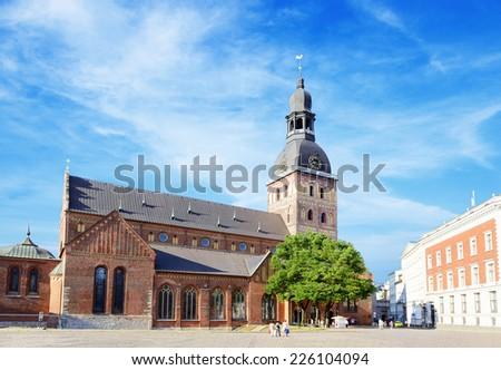 Riga Dome Cathedral. Riga. Latvia - stock photo
