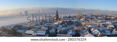 Riga panoramic view - stock photo