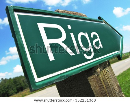 Riga road sign