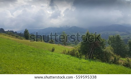 Right after a storm in Beskidy mountains