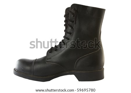 right army leather boot - stock photo