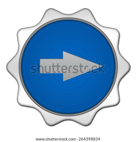 Right Arrow circular icon on white background