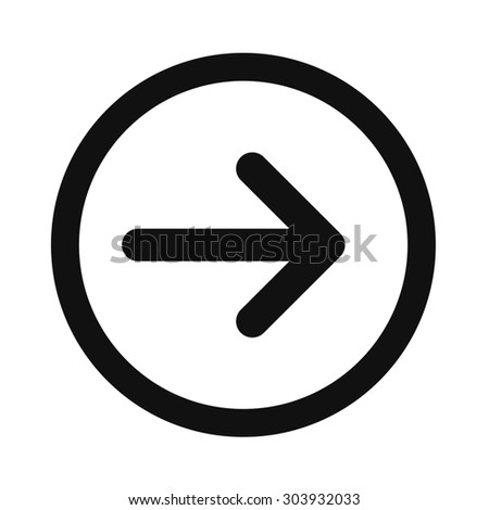 Right Arrow Symbol Stock Illustration 303932033 Shutterstock