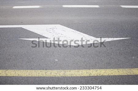 Right Arrow Urban road traffic symbol - stock photo