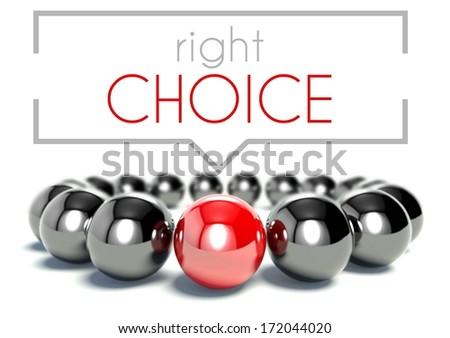 Right choice business unique concept - stock photo