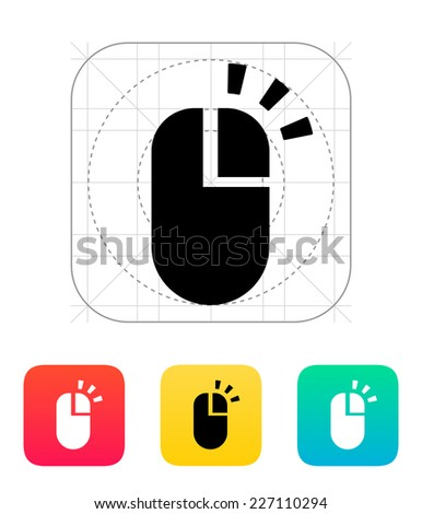 Right click mouse icon on white background.
