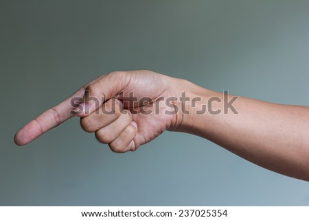 Right hand is pointing down