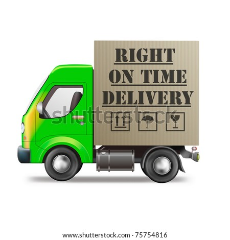 right on time delivery truck logistics icon