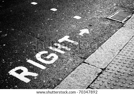 right signal - stock photo