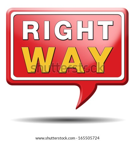 right way decision or direction for answers on questions  - stock photo