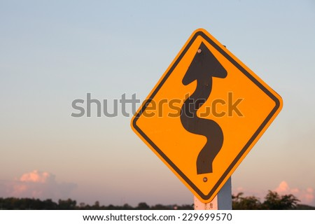 Right winding road, Part of a series. - stock photo