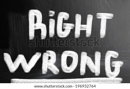 right wrong concept - stock photo