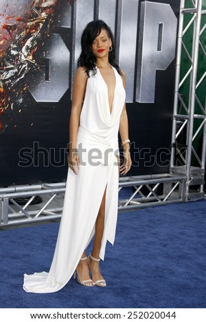 """Rihanna at the Los Angeles premiere of """"Battleship"""" held at the Nokia Theatre L.A. Live in Los Angeles, California, United States on May 10, 2012.  - stock photo"""