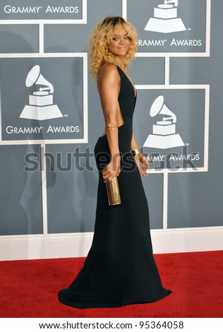 Rihanna at the 54th Annual Grammy Awards at the Staples Centre, Los Angeles. February 12, 2012  Los Angeles, CA Picture: Paul Smith / Featureflash