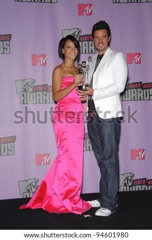 Rihanna & Chris Applebaum at the 2007 MTV Video Music Awards at the Palms resort & Casino, Las Vegas. September 10, 2007 Las Vegas, NV Picture: Paul Smith / Featureflash - stock photo