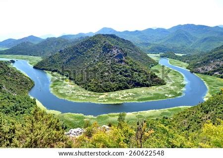 Rijeka Crnojevica in Monte Negro - stock photo