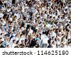 RIJEKA, CROATIA - SEPTEMBER 22:  fans on soccer match between HNK Rijeka and GNK Dinamo on September 22, 2012 in Rijeka, Croatia - stock photo