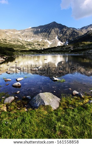 Rila Mountains in Bulgaria - stock photo