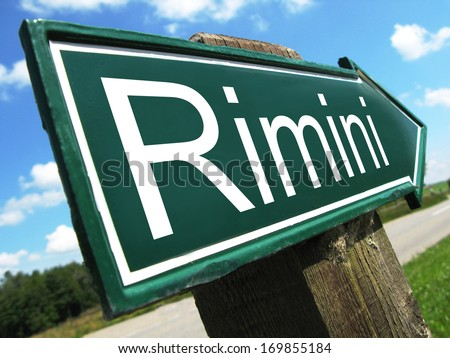Rimini road sign