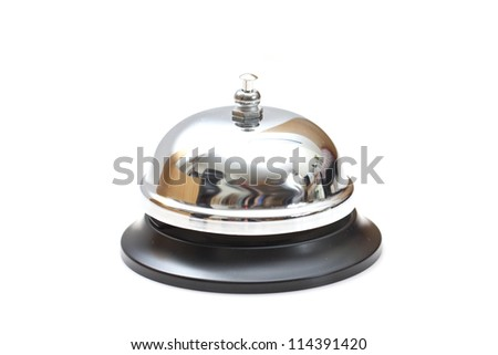 Ring bell isolated on white background - stock photo
