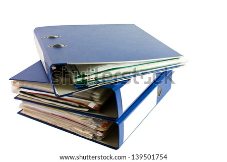 ring binders - stock photo