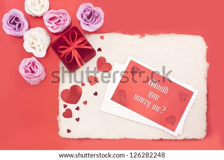 Ring box with message - stock photo