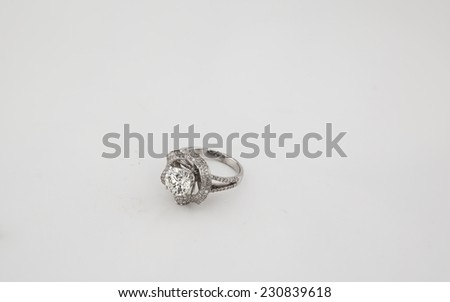 Ring in a white background