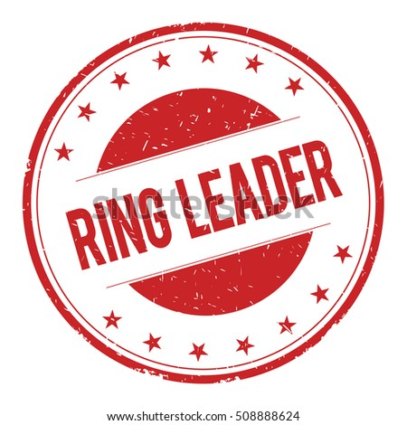 RING-LEADER stamp sign text word logo red.