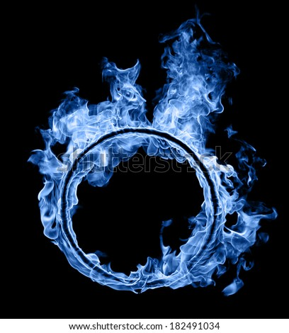 Ring of blue fire  - stock photo