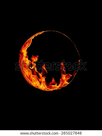 Ring of fire - stock photo