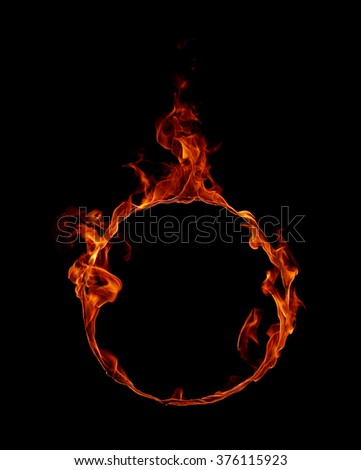 Ring of fire in black