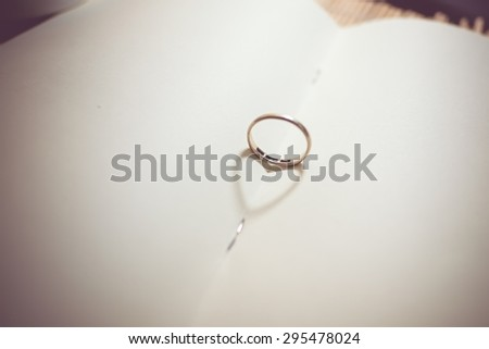 Ring of love  - stock photo