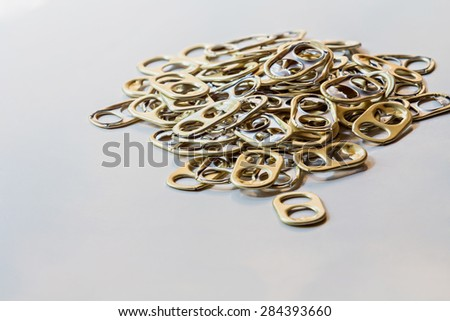 Ring pull for recycle - stock photo
