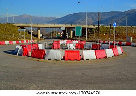 ring road - Egnatia street - stock photo