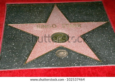 Ringo Starr's star at the induction ceremony for Ringo Starr into the Hollywood Walk of Fame, Hollywood, CA. 02-08-10