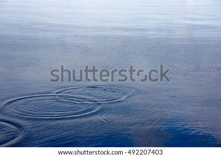 Rings in water background