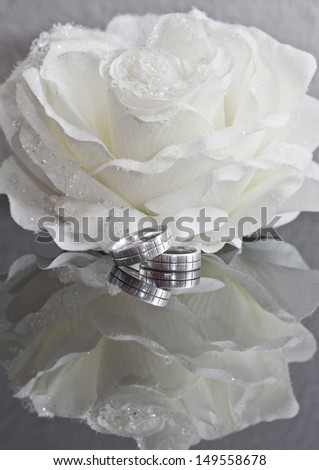 Rings: loving a wedding - stock photo