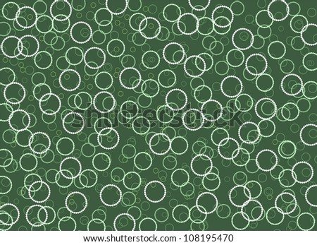 rings on green - stock photo