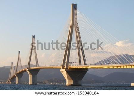 Rio-Antirio Bridge - stock photo