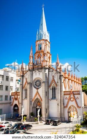 RIO DE JANEIRO - APRIL 28, 2015: Basilica Imaculada Conceicao on April 28, 2015 in Rio de Janeiro, Brazil. - stock photo