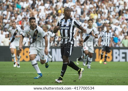 Rio de Janeiro, Brasil - may 08, 2016: Ribamar player in match between Botafogo and Vasco by the first match final of Carioca championship in Maracana Stadium - stock photo