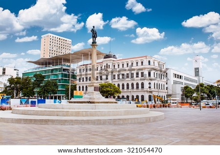 RIO DE JANEIRO, BRAZIL -APRIIL 26, 2015: New Maua square of carnival  (traditional carnival block) and  Art Museum of Rio (MAR) on April 26, 2015  in south of the Rio de Janeiro city. Brazil.